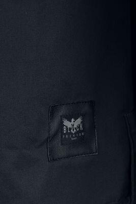 Musta kauluspaita armeijatyylisillä rintataskuilla