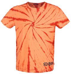 RED X CHIEMSEE - Oranssi/punainen T-paita batiikkivärjäyksellä