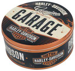 Harley-Davidson Garage - Round Storage Tin