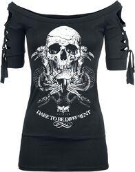 Snake Skull Cut-Out Shirt