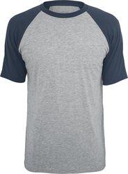 Kontrastivärinen raglan T-paita