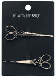Bronze Scissor Barrettes Set