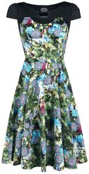 Green Crop Floral Swing Dress