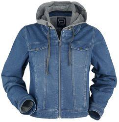 Sininen takki svetariosiolla