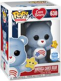 America Cares Bear (Glitter) (Funko Shop Europe) Vinyl Figure 638 (figuuri)