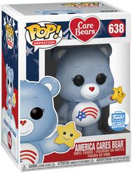 America Cares Bear (Glitter) (Funko Shop Europe) Vinyl Figure 638 (figuuri)