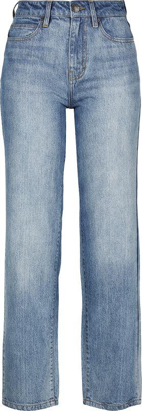 Ladies High Waist Straight Jeans farkut