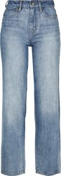 Ladies High Waist Straight Jeans