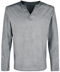 Harmaa pitkähihainen paita