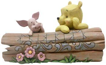 Pooh and Piglet on a Log Figurine (figuuri)
