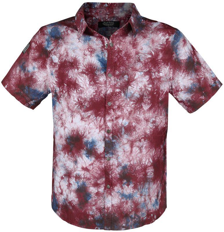 Lyhythihainen paita, jossa värikäs batiikkivärjäys