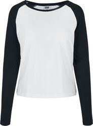 Ladies Contrast Raglan Longsleeve pitkähihainen paita
