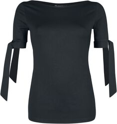 Basic Black Cow Neck Top