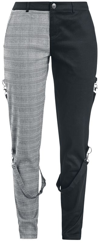 Houndstooth Check Half And Half Bondage Trousers