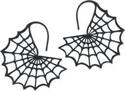 Black Spiderweb Earrings