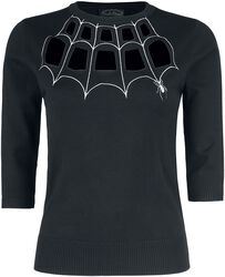 Morticia Spider Web Sweater