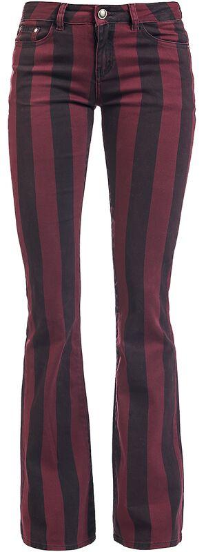 Grace - Musta/punainen raidalliset housut
