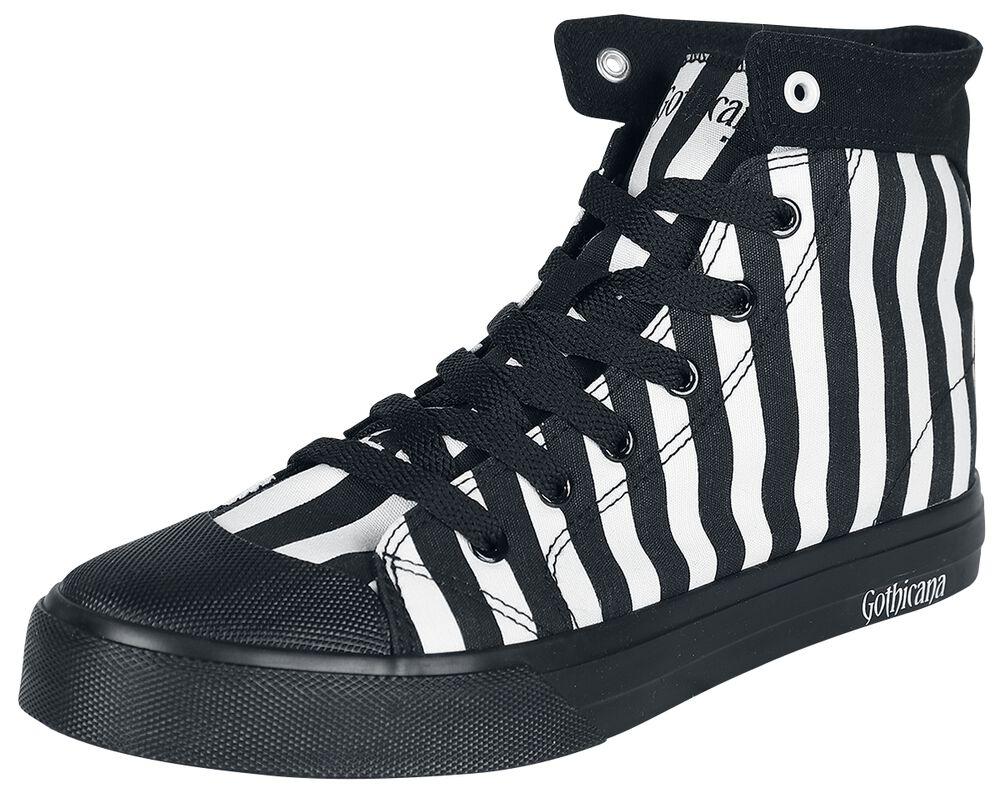 Musta/valkoinen raidalliset tennarit
