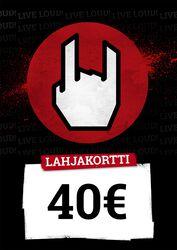 Lahjakortti 40,00 EUR