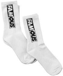 Famous Lettering Socks Double Pack