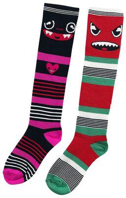 2-Pack of Monster Striped Socks