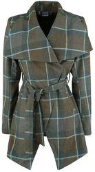 Mackenzie Tartan Belted Wrap Coat