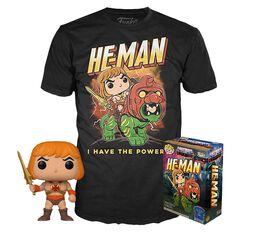 He-Man - He-Man (Glow In The Dark) - POP!-figuuri & T-paita