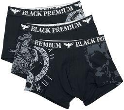 Musta/harmaa alushoususetti erilaisilla kuvioilla