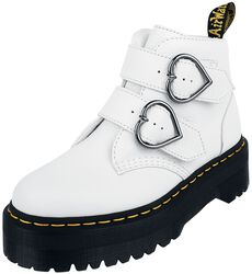 Devon Heart White Aunt Sally 2 Strap Boot platform-nilkkurit