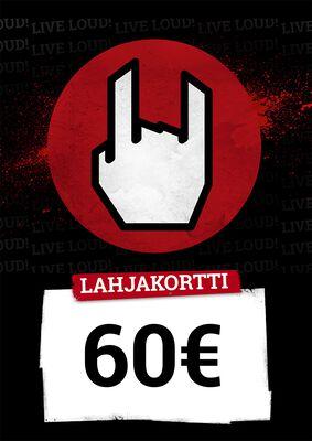 Lahjakortti 60,00 EUR