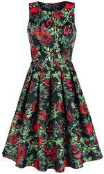 Annie Rose Thorns Floral Retro Dress