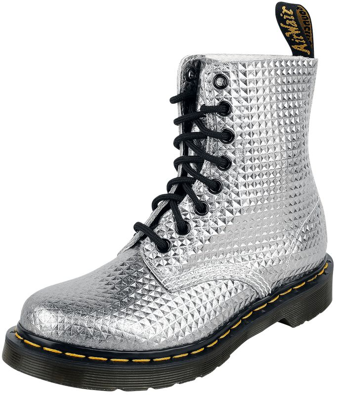 1460 Pascal Silver Stud Emboss Leather 8 Eye Boot maiharit
