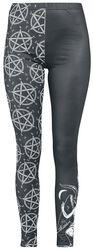 Mustat leggingsit yksityiskohtaisella painatuksella