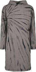 Ladies Oversized Tie Dye Hoodie Dress hupparimerkko