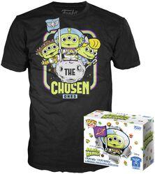 Alien As Buzz (GITD) T-paita plus Funko-figuuri - POP! & Tee