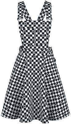 Pokerface Pinafore Dress