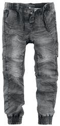 Sweat Denim-Look Trousers