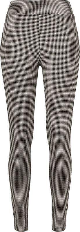 Ladies Vichy Check High Waist Leggings leggingsit