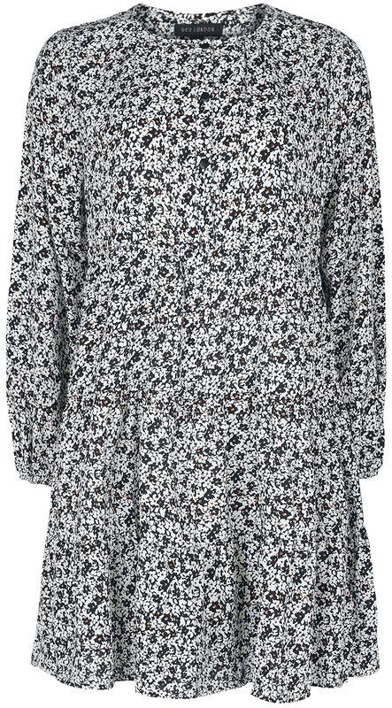 Ditsy Print Button-Up Skater Dress