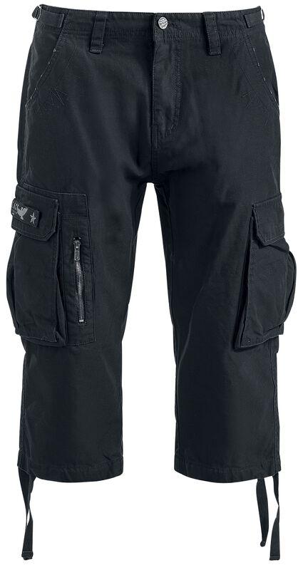 Armeijatyyliset 3/4-vintage-shortsit
