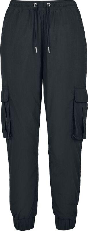 Ladies High Waist Crinkle Nylon Cargo Pants reisitaskuhousut