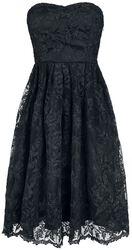 Black Chantilly Lace Strapless Dress