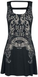Rock Rebel Short Dress with Print and Cut-Outs