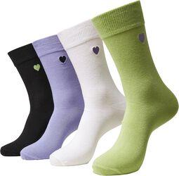 Heart Socks sukat (4 kpl setti)