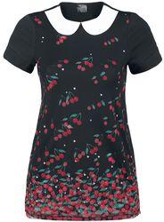 Falling Cherries Collar Shirt