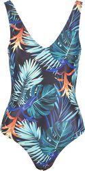 Ladies High Leg Flower Swimsuit uimapuku