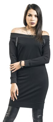 Musta open-shoulder-mekko