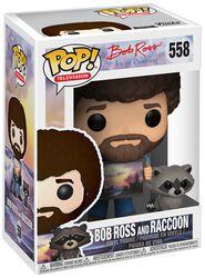 The Joy of Painting - Bob Ross and Raccoon (Chase-mahdollisuus) Vinyl Figure 558 (figuuri)