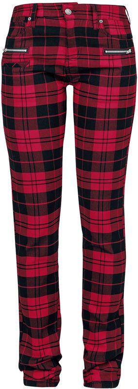 Skarlett - punaiset/mustat ruutuhousut
