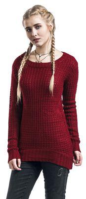 Pitkä leveäkauluksinen neulepusero